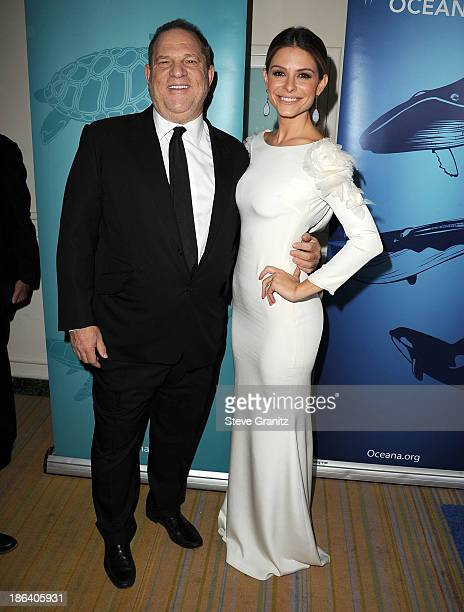 Harvey Weinstein and Maria Menounos arrives at the Oceana Partners Award Gala With Former Secretary Of State Hillary Rodham Clinton and HBO CEO...