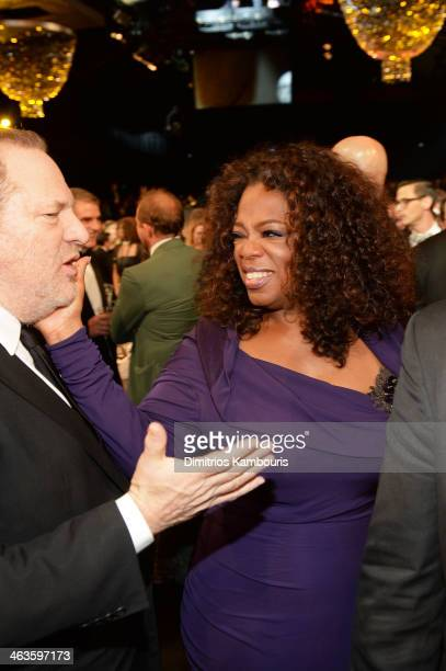 Harvey Weinstein and Oprah Winfrey attend the 20th Annual Screen Actors Guild Awards at The Shrine Auditorium on January 18 2014 in Los Angeles...