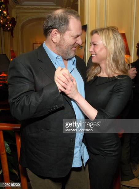 Harvey Weinstein and Renee Zellweger during 'Miss Potter' Special Screening Dinner After Party at The Hotel Plaza Athenee in New York City New York...