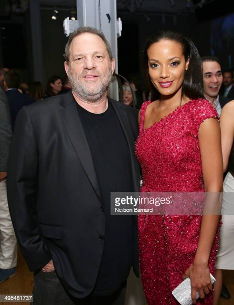 Harvey Weinstein and Selita Ebanks attend Montblanc honors Jane Rosenthal at 2014 Montblanc de la Culture Arts Patronage Award Ceremony on June 3...