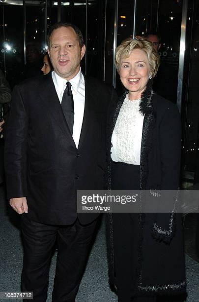 Harvey Weinstein and Senator Hillary Rodham Clinton