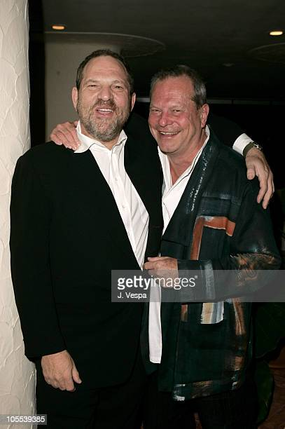 Harvey Weinstein and Terry Gilliam during 2005 Venice Film Festival 'The Brothers Grimm' Party at Excelsior Hotel in Venice Lido Italy