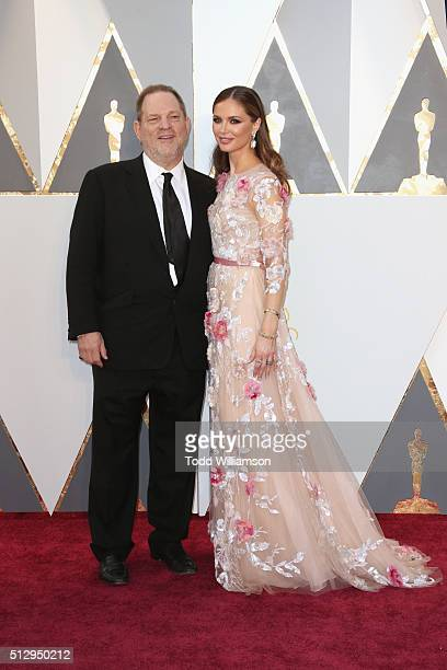 Harvey Weinstein and wife Georgina Chapman attend the 88th Annual Academy Awards at Hollywood Highland Center on February 28 2016 in Hollywood...