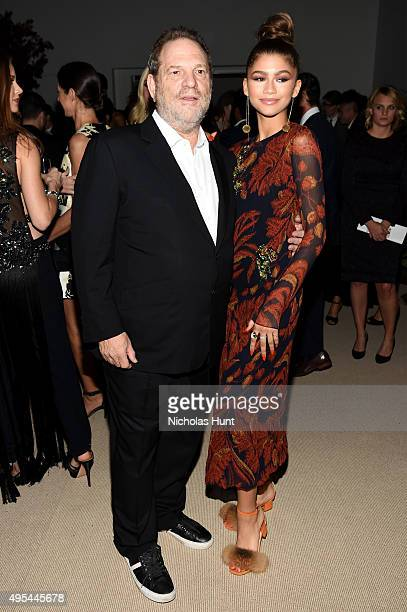 Harvey Weinstein and Zendaya attend the 12th annual CFDA/Vogue Fashion Fund Awards at Spring Studios on November 2 2015 in New York City