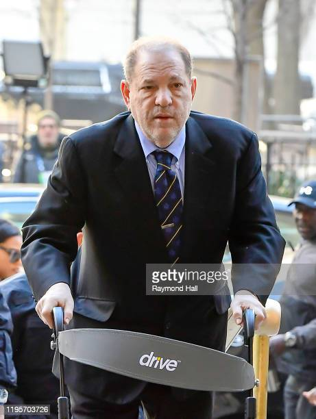 Harvey Weinstein arrived at the Manhattan Criminal Court on January 24, 2020 in New York City.