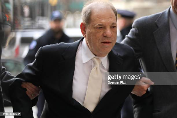 Harvey Weinstein arrives at a Manhattan court house for the second day of his trial on January 23, 2020 in New York City. Weinstein, a movie producer...