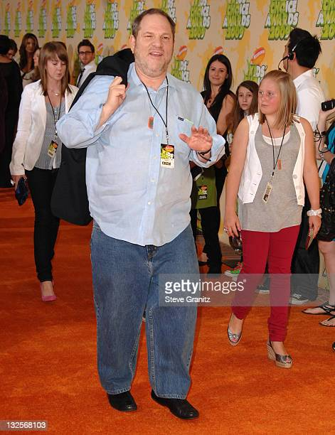 Harvey Weinstein arrives at Nickelodeon's 2009 Kids' Choice Awards at the Pauley Pavilion on March 28 2009 in Los Angeles California