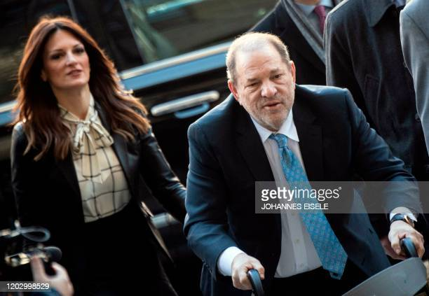 Harvey Weinstein arrives at the Manhattan Criminal Court on February 24 2020 in New York City The jury in Harvey Weinstein's rape trial hinted it was...