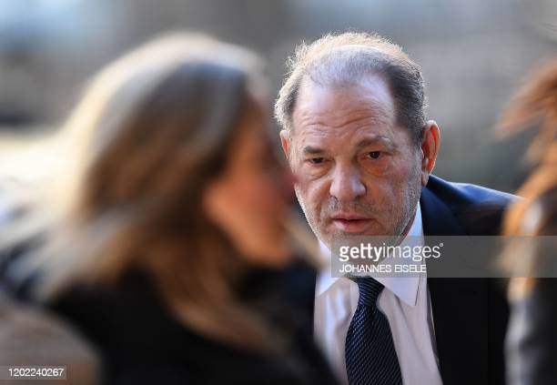 Harvey Weinstein arrives to the Manhattan Criminal Court, on February 21, 2020 in New York City. - The disgraced movie mogul faces life in prison if...