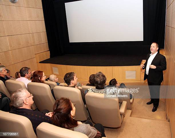 Harvey Weinstein attend a screening of The King's Speech at 57 Screening Room on December 20 2010 in New York City