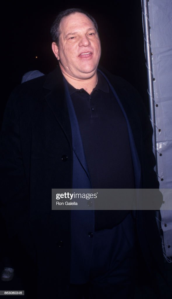 Harvey Weinstein attends 'Gangs of New York' Premiere on December 9, 2002 at the Ziegfeld Theater in New York City.