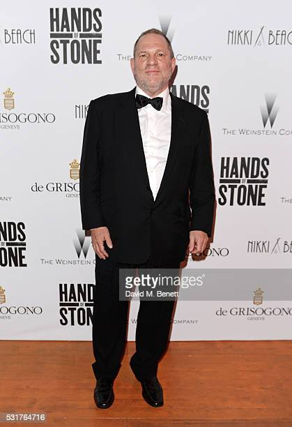 Harvey Weinstein attends The Weinstein Company's HANDS OF STONE After Party In Partnership With De Grisogono At Nikki Beach Carlton Beach Club on May...