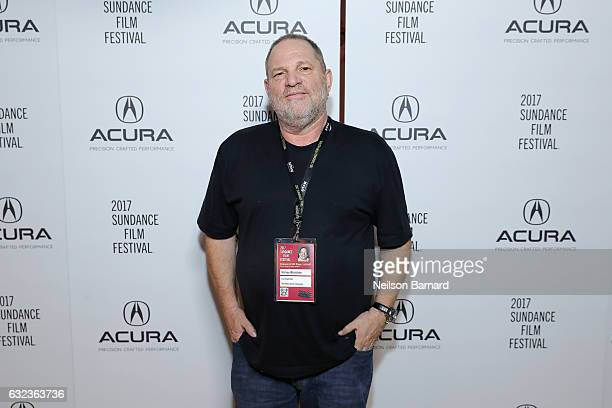 Harvey Weinstein attends the Wind River Party at the Acura Studio at Sundance Film Festival on January 21 2017 in Park City Utah