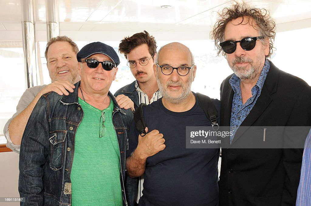 Harvey Weinstein, Aviv Giladi, Ben Giladi, Alan Yentob and Tim Burton attend a lunch hosted by Len Blavatnik, Harvey Weinstein and Warner Music during the 66th Cannes Film Festival on board the Odessa at Old Port on May 19, 2013 in Cannes, France.