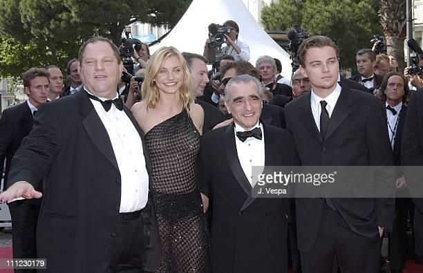 Harvey Weinstein Cameron Diaz Martin Scorsese and Leonardo DiCaprio
