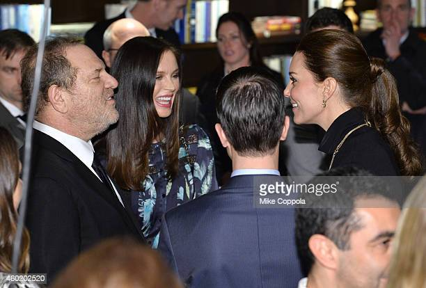 Harvey Weinstein CBE and designer Georgina Chapman speak to HRH Duchess of Cambridge at the Creativity is GREAT Britain's event in honour of the Duke...