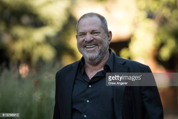 Harvey Weinstein cochairman and cofounder of Weinstein Co attends the second day of the annual Allen Company Sun Valley Conference July 12 2017 in...