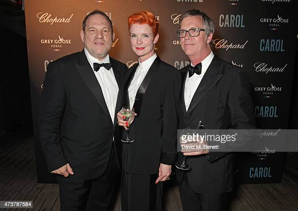 Harvey Weinstein costume designer Sandy Powell and director Todd Haynes attend the 'Carol' party hosted by Chopard and Grey Goose at Baoli Beach...