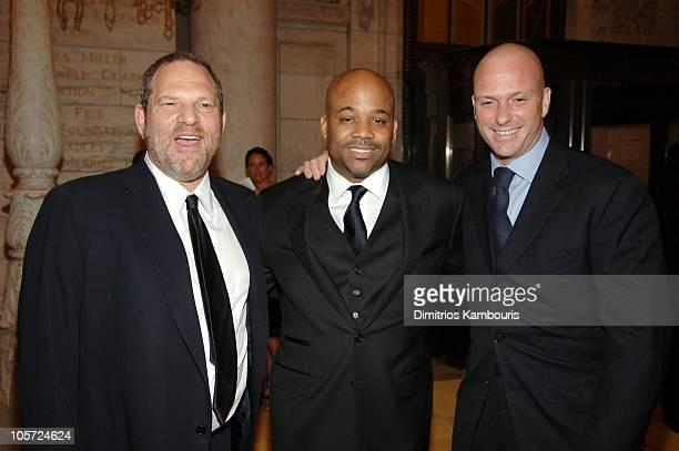 Harvey Weinstein Damon Dash and Giuseppe Cipriani