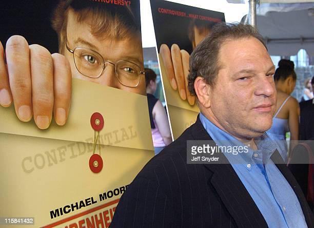 Harvey Weinstein during 'Fahrenheit 9/11' Washington DC Premiere at Cineplex Odeon Uptown in Washington DC United States