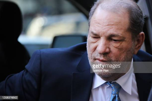 Harvey Weinstein enters a Manhattan court house as a jury continues with deliberations in his trial on February 24 2020 in New York City On Friday...