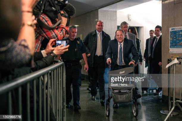 Harvey Weinstein enters New York City Criminal Court on February 24 2020 in New York City Jury deliberations in the highprofile trial are believed to...
