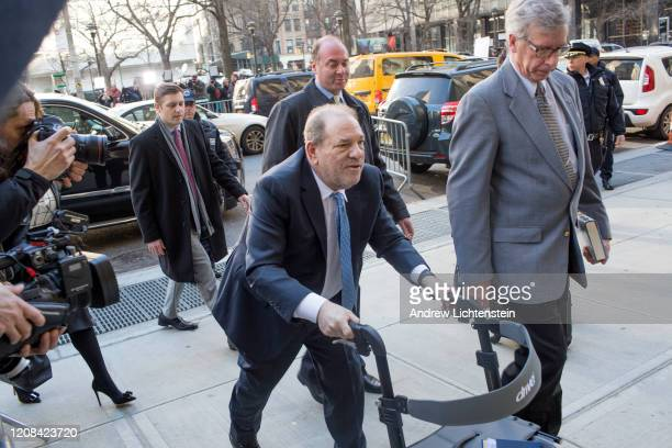 Harvey Weinstein enters the courthouse on February 24 2020 in New York City