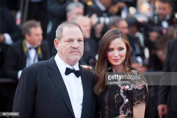 Harvey Weinstein et Georgina Chapman lors de la première du film 'Le Petit Prince' pendant le 68eme Festival du Film Annuel au Palais des Festivals...