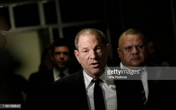 Harvey Weinstein exits court after an arraignment over a new indictment for sexual assault on August 26, 2019 in New York City. The new charges...
