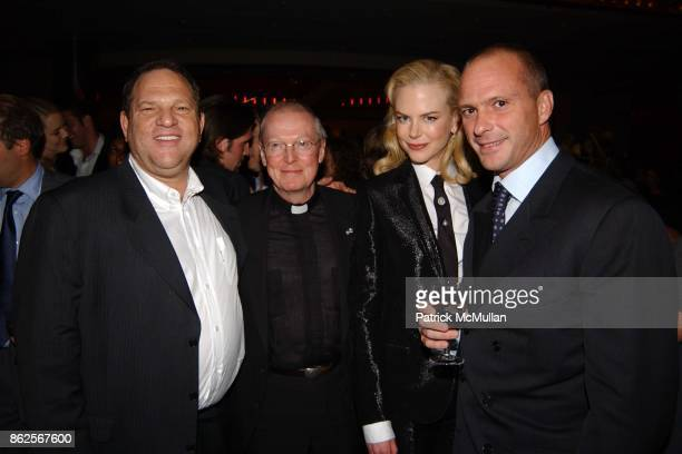 Harvey Weinstein Father Leo O'Donovan Nicole Kidman and Giuseppe Cipriani attend The Human Stain After Party at Brasserie 8 1/2 on September 10 2003...