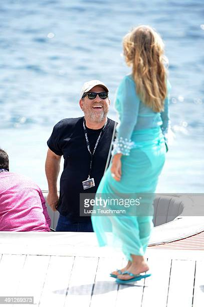 Harvey Weinstein is sighted arriving by boat to the 'Eden Roc' hotel on day 3 of the 67th Annual Cannes Film Festival on May 16, 2014 in Cap...