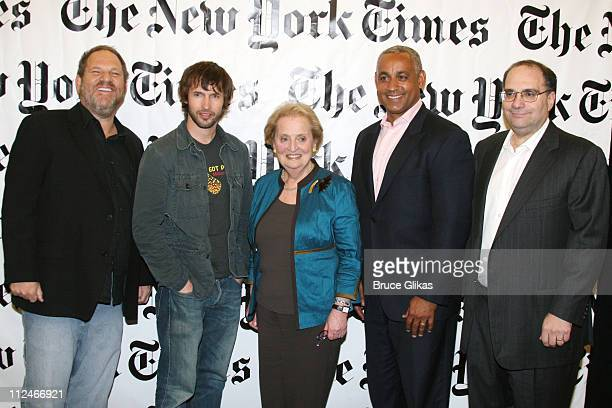 Harvey Weinstein James Blunt Madeleine K Albright Omar Minaya and Bob Weinstein