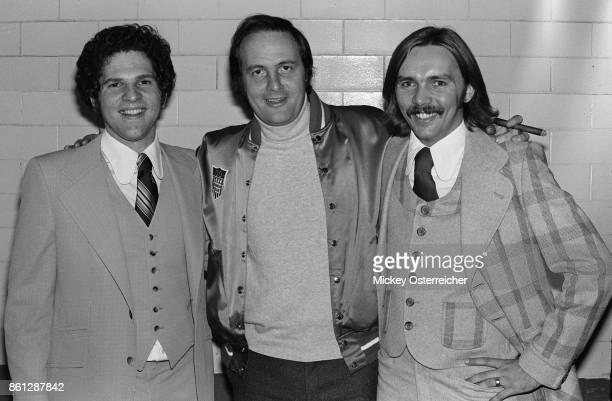 Harvey Weinstein Jerry Weintraub and Corky Berger October 4 1974 in an unknown location