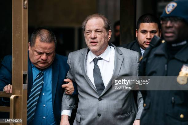 Harvey Weinstein leaves New York City Criminal Court after a bail hearing on December 6 2019 in New York City The Oscarwinning producer appeared in...