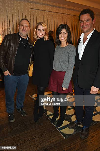 Harvey Weinstein Lucy Boynton Alessandra Mastronardi and Dominic West attend a VIP screening of 'Sing Street' hosted by Harvey Weinstein and Dominic...