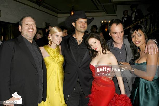 Harvey Weinstein Marley Shelton Robert Rodriguez Rose McGowan Quentin Tarantino and Rosario Dawson