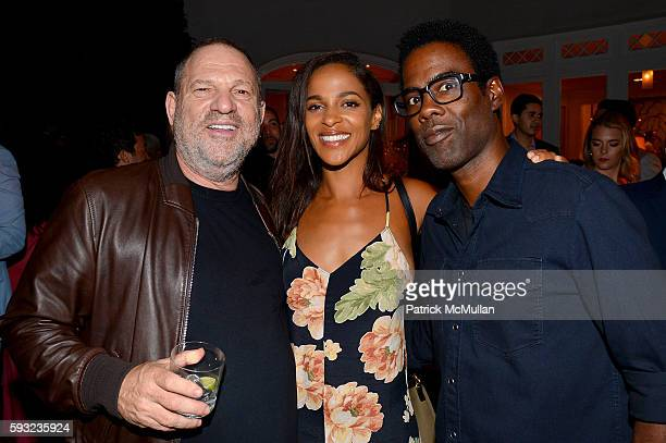 Harvey Weinstein Megalyn Echikunwoke and Chris Rock attend the Apollo in the Hamptons 2016 party at The Creeks on August 20 2016 in East Hampton New...