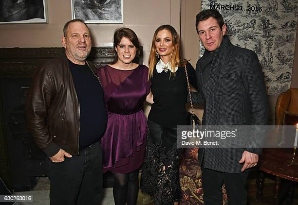 Harvey Weinstein Princess Eugenie of York Georgina Chapman and Jack Brooksbank attend a VIP screening of Lion hosted by Harvey Weinstein and Georgina...