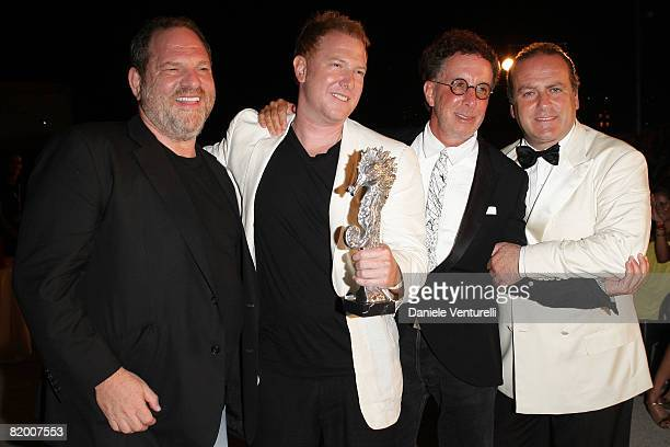 Harvey Weinstein Ryan Kavanaugh Mark Canton and Pascal Vicedomini attend day four of the Ischia Global Film And Music Festival on July 19 2008 in...