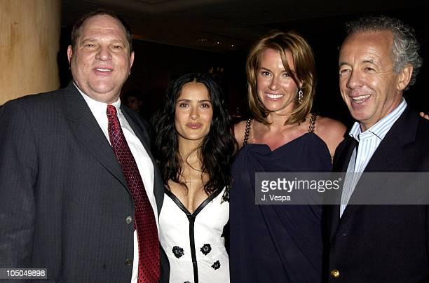 Harvey Weinstein Salma Hayek Kelly Bensimon and Gilles Bensimon Publication Director Elle
