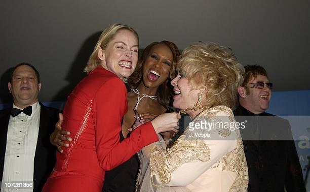 Harvey Weinstein, Sharon Stone, Iman, Dame Elizabeth Taylor and Sir Elton John