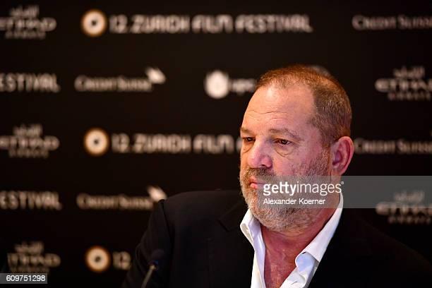Harvey Weinstein speaks at the 'Lion' press junket during the 12th Zurich Film Festival on September 22 2016 in Zurich Switzerland The Zurich Film...