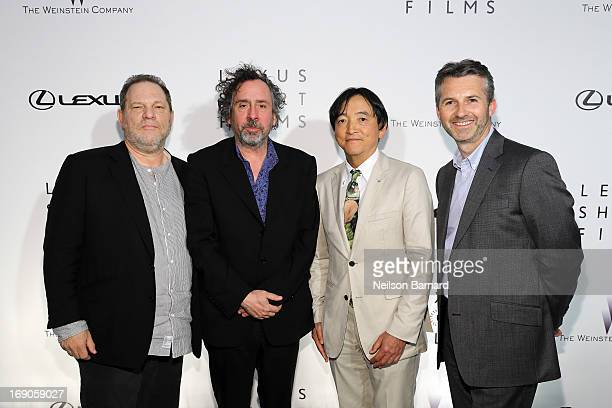 Harvey Weinstein Tim Burton Tokuo Fukuichi and Paul Van Der Burgh attend the Lexus Short Film Series Life Is Amazing presented by The Weinstein...