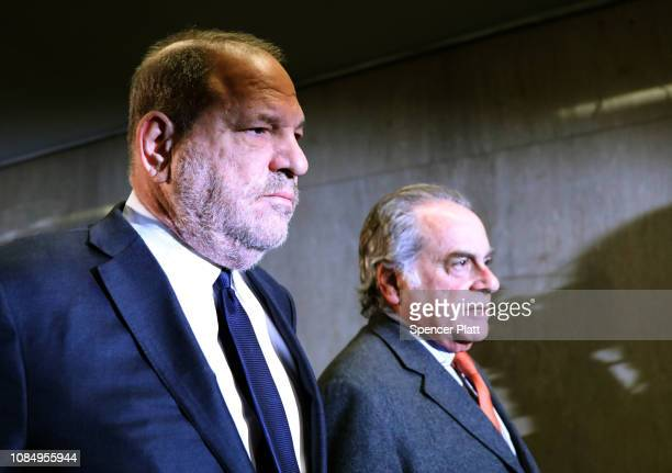 Harvey Weinstein walks into court with his lawyer Benjamin Brafman on December 20 2018 in New York City After numerous problems in the prosecutions...