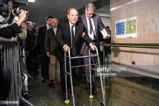 Harvey Weinstein walks to the courtroom in New York City criminal court on January 6 2020 in New York City Weinstein a movie producer whose alleged...
