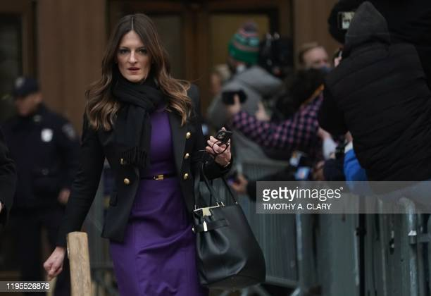 Harvey Weinstein's attorney Donna Rotunno leaves Manhattan Supreme Court January 23 2020 after the 2nd day in Weinstein's rape and sexual assault...