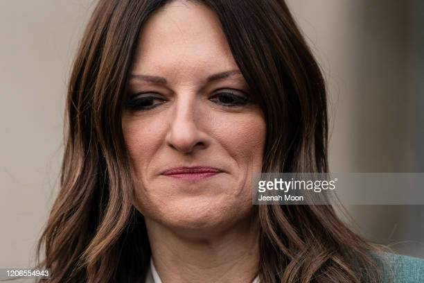 Harvey Weinstein's lawyer Donna Rotunno speaks to press members after the sentencing of Hollywood mogul Harvey Weinstein in New York Criminal Court...