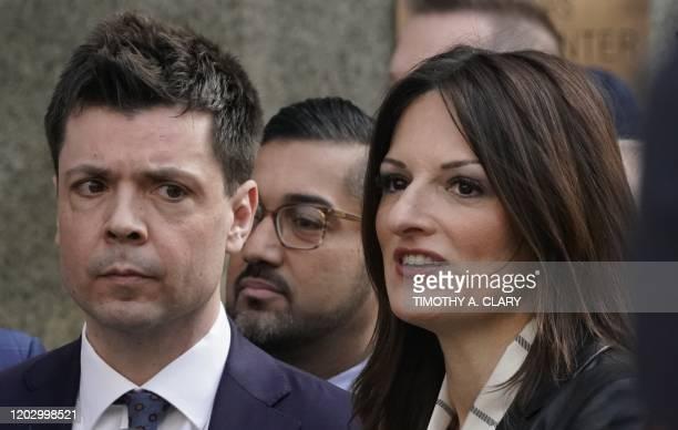 Harvey Weinstein's lawyers Donna Rotunno and Damon Cheronis leave the Manhattan Criminal Court on February 24 2020 in New York City Harvey Weinstein...