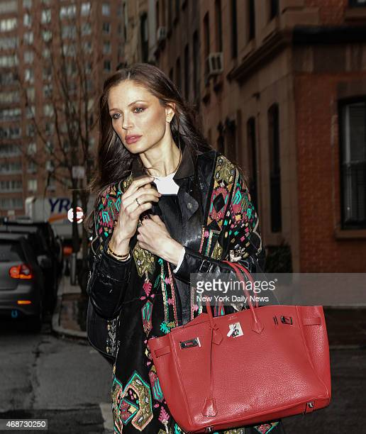 Harvey Weinstein`s wife Georgina Chapman leaves their Greenwich Village home at 13 Bank St New York New York Friday April 3rd 2015