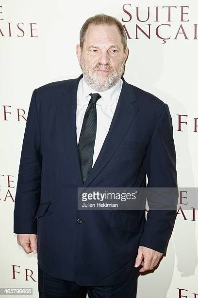 Harvey Wenstein attends 'Suite Francaise' Premiere at Cinema UGC Normandie on March 10 2015 in Paris France